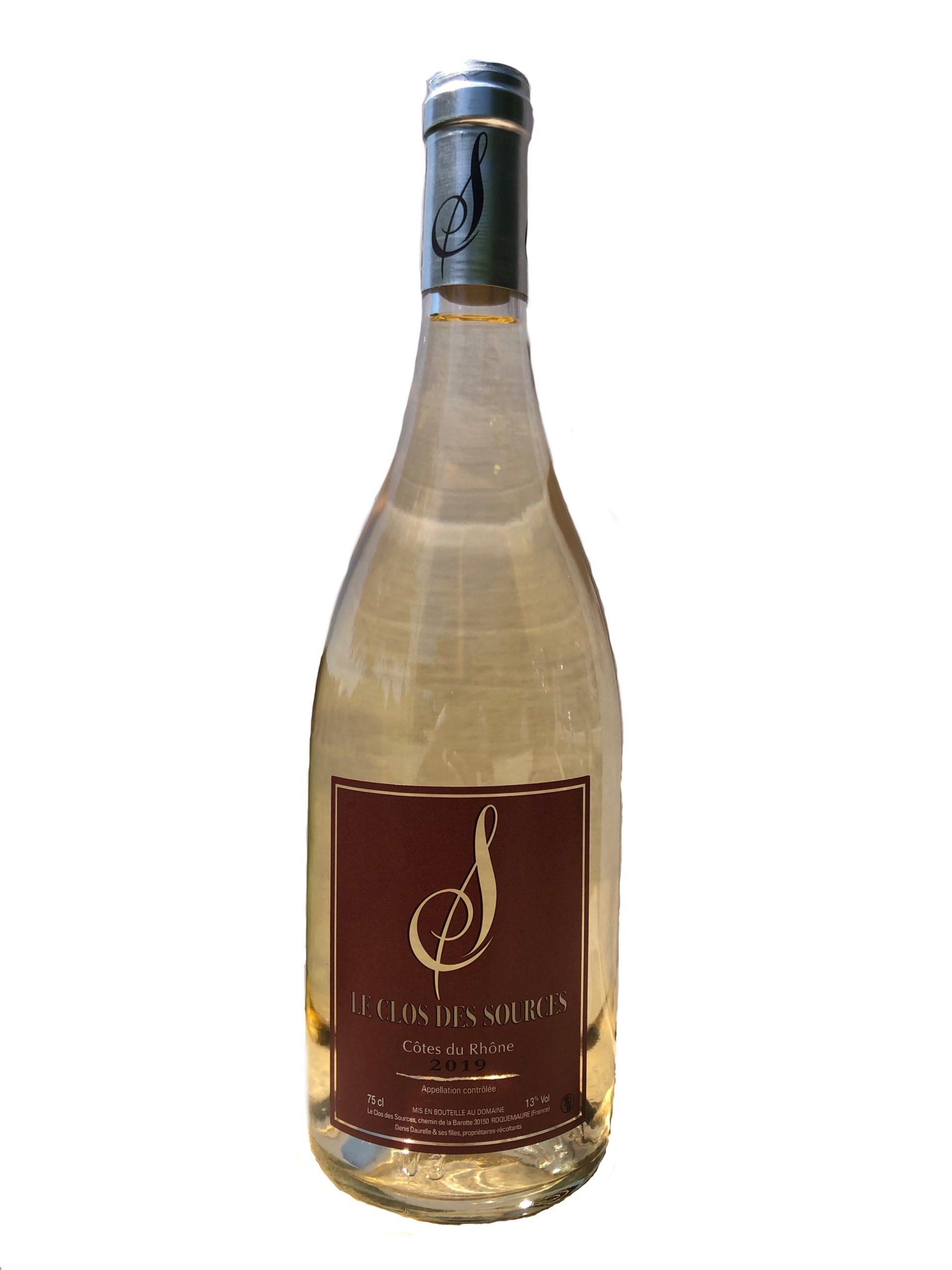 bouteille blanc vin