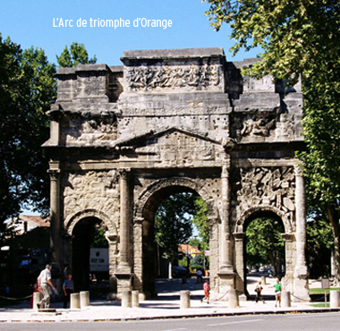 arc de triomphe orange