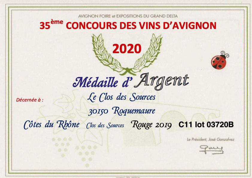 concours medaille argent