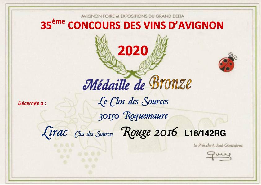 concours medaille bronze