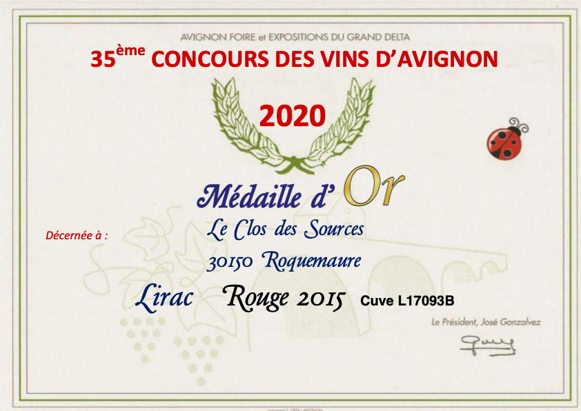 concours medaille or